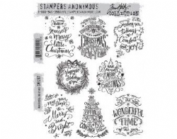 CMS287 Stampers Anonymous Tim Holtz Cling Mounted Stamp Set - Mini Doodle Greetings